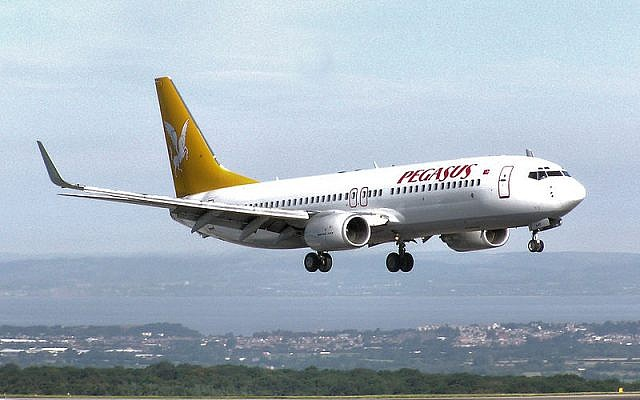 A Pegasus Airlines flight (photo credit: Wikimedia Commons)