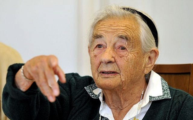 This July 25, 2008 file photo shows Maria von Trapp, daughter of Austrian Baron Georg von Trapp, smiling during a press conference at the Villa Trapp in Salzburg, Austria. The last surviving member of the famous Trapp Family Singers made famous in 'The Sound of Music' died this week at her home in Vermont. She was 99. (photo credit: AP/Kerstin Joensson, File)