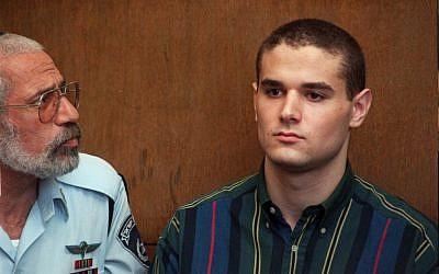 Samuel Sheinbein at Tel Aviv court in 1999.  (photo credit: AP/Eyal Warshavsky)
