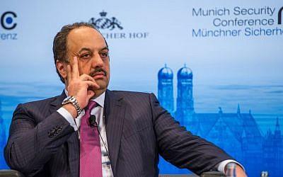 Qatari Foreign Minister Khalid bin Mohammed al-Attiyah (photo credit: Mueller/MSC)