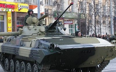 A Russian BMP-2 vehicle, illustrative (Photo credit: Wikimedia Commons, public domain)
