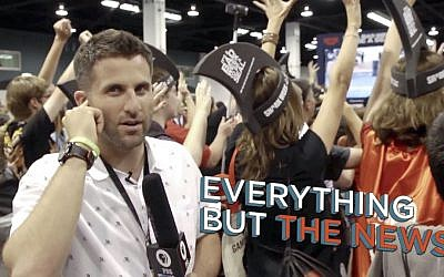 Steve Goldbloom reports from Vidcon in episode 1 of 'Everything But The News.' (Courtesy of Steve Goldbloom)