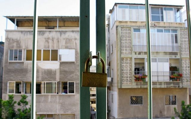 View from a two room apartment in south Tel Aviv.  July 3, 2008. (Photo credit: Chen Leopold/Flash 90)