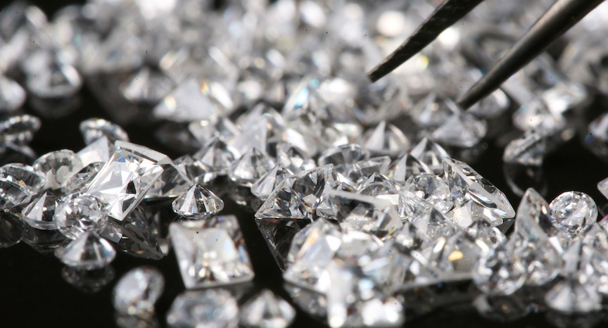 Diamonds -- just how much are they worth, anyway? (Photo credit: Nati Shohat/Flash90)