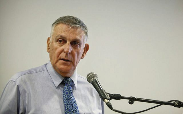 Chemistry Nobel Prize winner Israeli scientist Daniel Shechtman at a press conference in Jerusalem on October 09, 2011. (photo credit: FLASH90)