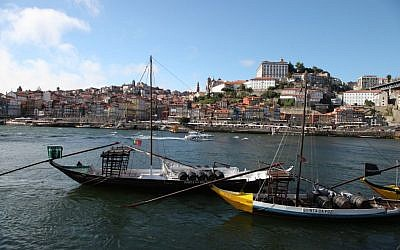 Boats by the port of Porto, Portugal, on August 16, 2013. (photo credit: Isaac Harari/Flash90)