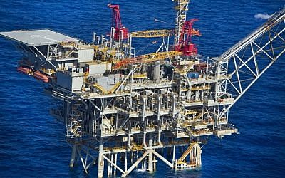 A gas processing rig in the Eastern Mediterranean. (photo credit: Moshe Shai/FLASH90)