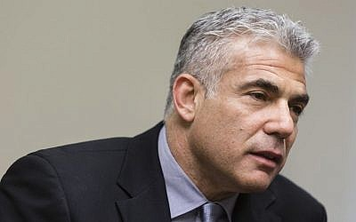 Finance minister and leader of the Yesh Atid party Yair Lapid (Photo credit: Flash90)
