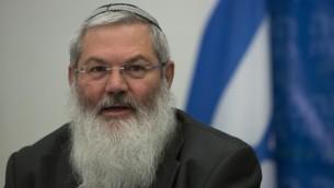 Deputy Defense Minister Eli Ben-Dahan, a former deputy minister of religious affairs, February 3, 2014. (Yonatan Sindel/Flash90)