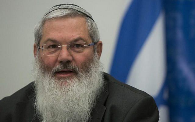 Deputy Defense Minister Eli Ben-Dahan. (Yonatan Sindel/Flash90)