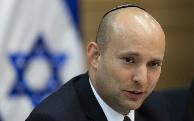 Naftali Bennett at the Knesset, February 11, 2014 (photo credit: Flash90)