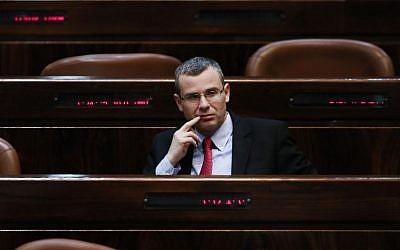 Tourism Minister Yariv Levin (Miriam Alster/Flash90)