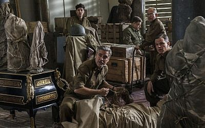 From left: Dimitri Leonidas, George Clooney, John Goodman, Bob Balaban and Matt Damon in the film, 'The Monuments Men.' (AP/Columbia Pictures/Claudette Barius)
