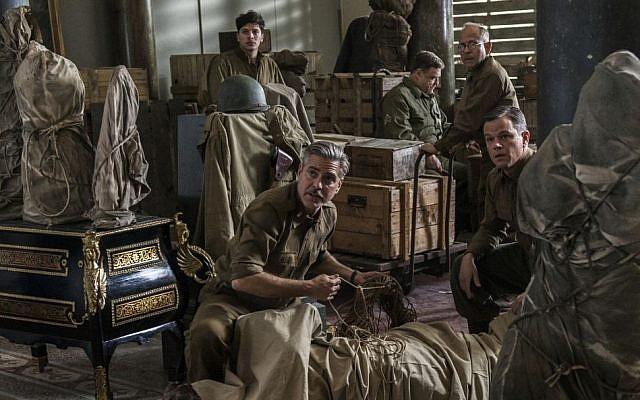 From left: Dimitri Leonidas, George Clooney, John Goodman, Bob Balaban and Matt Damon in the film, 'The Monuments Men.' (AP/Columbia Pictures/Claudette Barius)