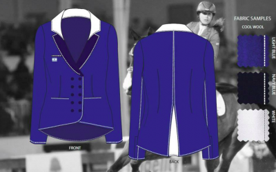 Inbal Hayun, 26, from WIZO Haifa Academy, designed this blazer for the 'Blaze of Glory' contest (Courtesy TEAM Israel)