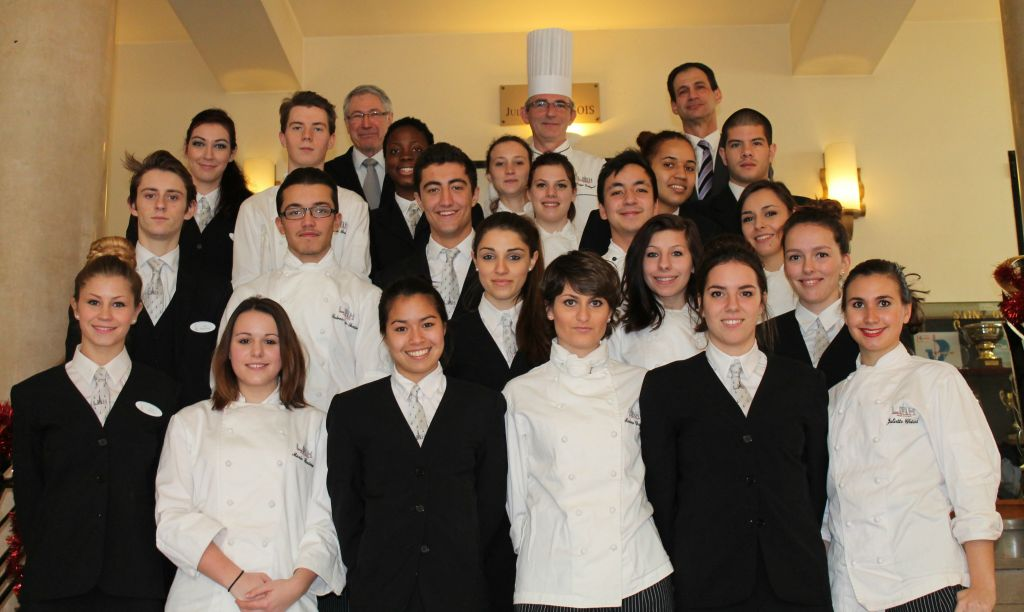 "A group of French culinary and hospitality students are visiting Israel for a French culinary week, dubbed ""So Frenchy So Good,"" to tour the country and work with Israeli culinary students (Courtesy Michel Hartbrot)"