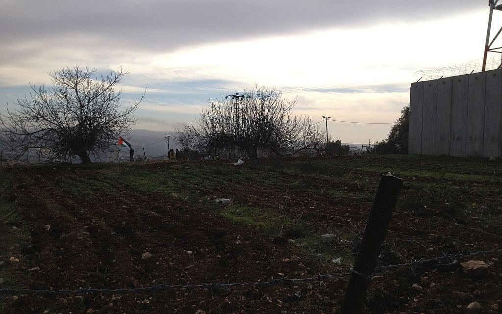 A recently plowed vegetable field in Nabi Samwil, January 31, 2014 (photo credit: Elhanan Miller/TOI)