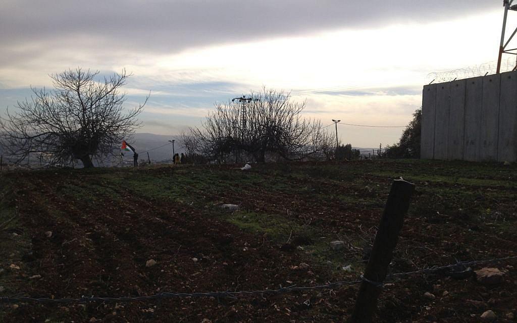 A recently plowed vegetable field in Nabi Samwil, January 31, 2014 (photo credit: Elhanan Miller/TOI)