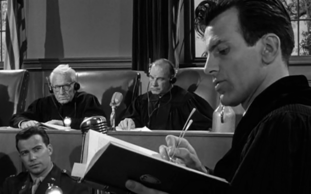 Maximillian Schell in Judgment at Nuremberg (photo credit: Courtesy United Artists)