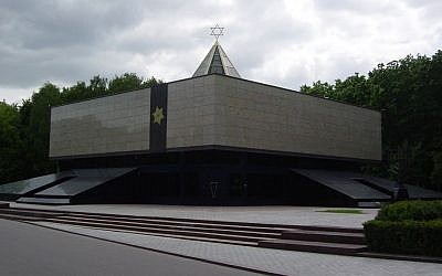 The memorial synagogue on Poklonnaya Hill, Moscow (Photo credit: LAL Mikhail Yakovlev/Wikimedia Commons)