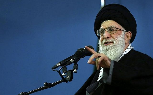 Iran's Supreme Leader Ayatollah Ali Khamenei delivers a speech in Tehran (AP/Office of the Iranian Supreme Leader/File)