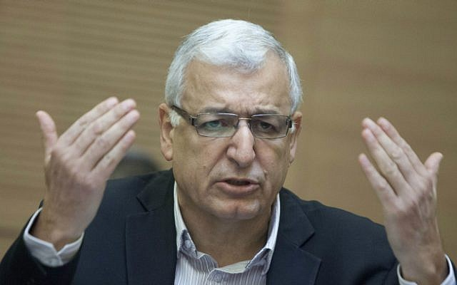 Prof. Shlomo Mor-Yosef, seen at a Knesset Finance Committee meeting on February 12, 2014. (Flash 90)