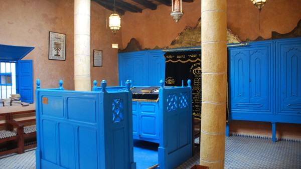 The inside of one of the last remaining synagogues in Essaouira, Morocco (photo credit: russavia/Wikimedia Commons/File)