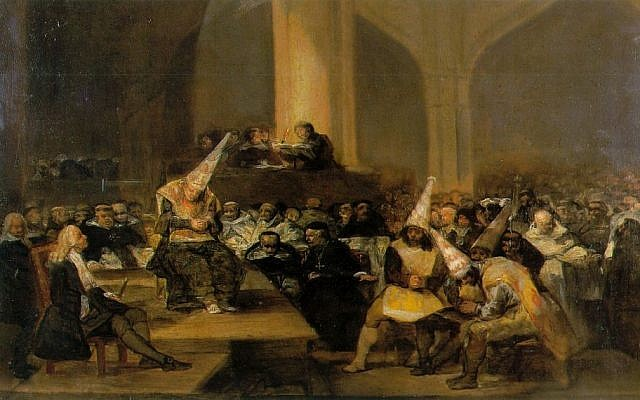 The Inquisition Tribunal, a 19th century work by Spanish artist Francisco Goya. (photo credit: Wikimedia Commons/CC BY)
