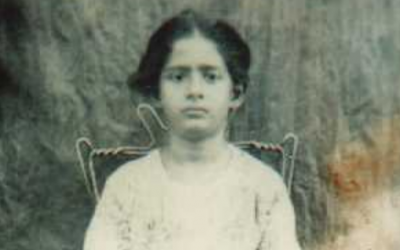Fishel's mother as a young girl. (courtesy)