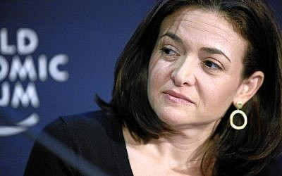 Sheryl Sandberg, Chief Operating Officer, Facebook. (CC BY-SA Scanlan, Wikimedia Commons)