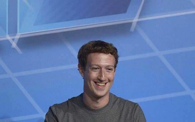 Mark Zuckerberg at the Mobile World Congress, in Barcelona, Spain, on February 24, 2014 (photo credit: AP/Manu Fernandez)