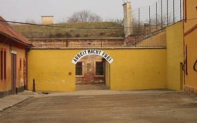 Theresienstadt concentration camp, in Terezin, Czech Republic (photo credit: Colm Rice/Wikimedia Commons/File)