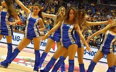 Maccabi Tel Aviv cheerleaders (Photo credit: Youtube screen capture)
