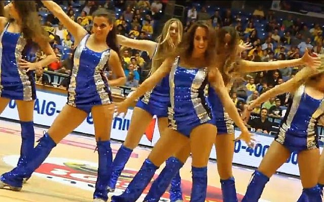 Maccabi Tel Aviv cheerleaders (Photo credit: Youtube screen capture)