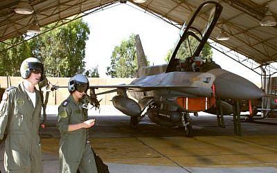 IAF pilots (photo credit: Tsahi Ben-Ami/Flash90)