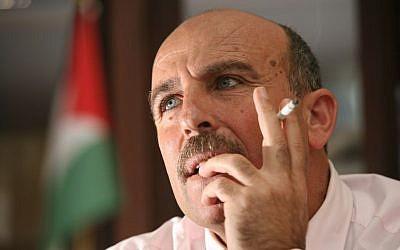 Sufian Abu Zaida, former Fatah cabinet minister. (Photo credit: Flash90)