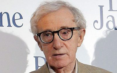 Director and actor Woody Allen at the French premiere of 'Blue Jasmine,' in Paris, August 27, 2013 (photo credit: AP/Christophe Ena, File)