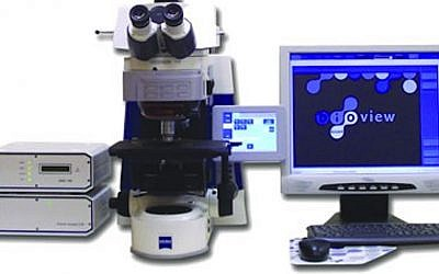 BioView's Accord scanning station, a single slide analysis system which includes the hardware and software needed to tissues samples using the FISH technique (Photo credit: Courtesy)