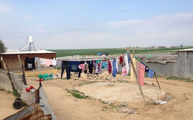 The unrecognized village of um-Namailah in February 2014 (photo credit: Mitch Ginsburg/ Times of Israel)