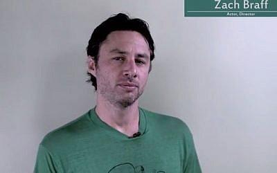 Zach Braff (photo credit: YouTube screen grab)