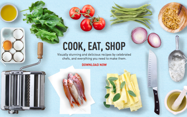 The crisp, clear layout of the Look & Cook app (Courtesy Look & Cook)