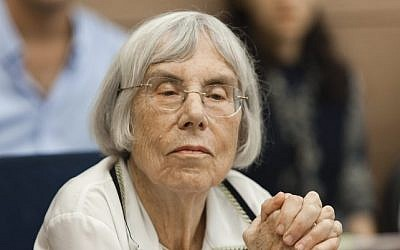 Former Israeli Supreme Court Judge Dalia Dorner attends a session of the Committee on the Status of Women at the Knesset, September 9, 2013 (Flash90)