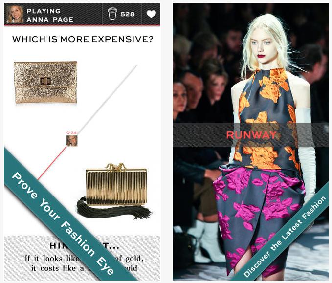 Screenshot from the Fashion Eye app (Courtesy Fashion Eye)