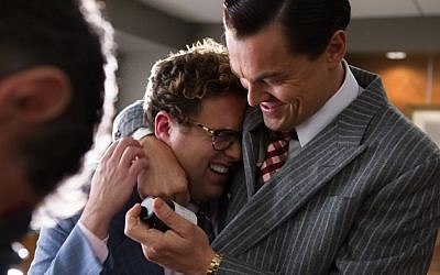 Jonah Hill and Leonardo DiCaprio in 'Wolf of Wall Street' (courtesy Paramount Pictures)