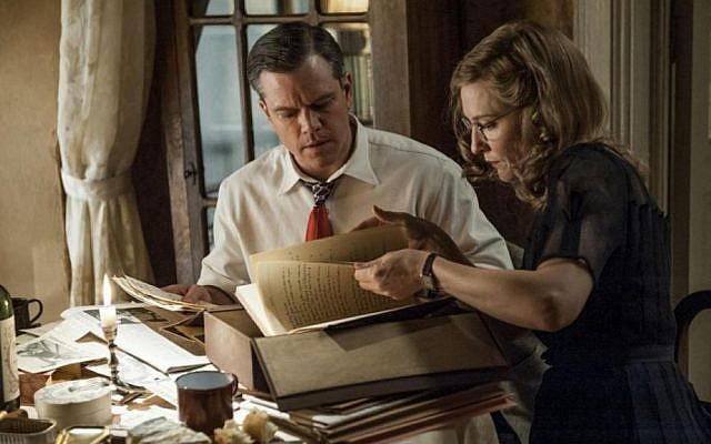 Matt Damon and Cate Blanchett. Talk of the camps is pretty minimal in 'The Monuments Men' (Sony/Columbia Pictures)