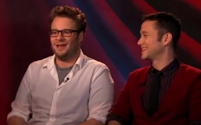 Seth Rogen (left) and Joseph Gordon-Levitt (screen capture: YouTube)