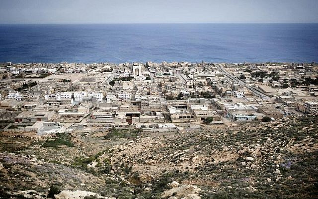 The eastern Libyan town of Derna on March 15, 2011 (photo credit: AFP/File Alessio Romenzi)