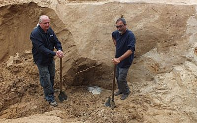 Archeologists Wojtek Mazurek (left) and Yoram Haimi, excavators of Sobibor since 2007 (photo courtesy: Wojtek Mazurek)