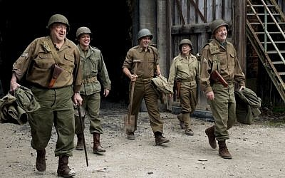 From left to right: John Goodman, Matt Damon, George Clooney, Bob Balaban and Bill Murray star in 'The Monuments Men' (photo credit: Claudette Barius/Columbia Pictures)