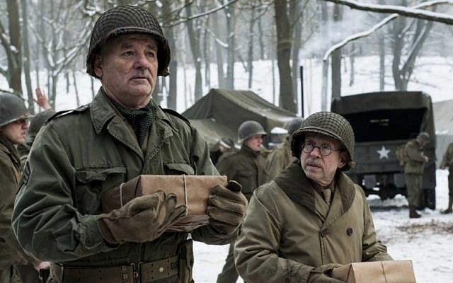 Any excuse to see Bill Murray in uniform is a good excuse. A scene from 'The Monuments Men' (courtesy Sony/Columbia Pictures)